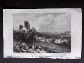 Roscoe 1834 Antique Print. Aurillac, France